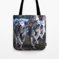 running Tote Bags featuring Running by paulineamphlett