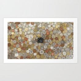 Coins & Tiny Tiny Camera Art Print