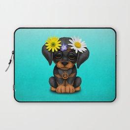 Cute Doberman Puppy Hippie Laptop Sleeve