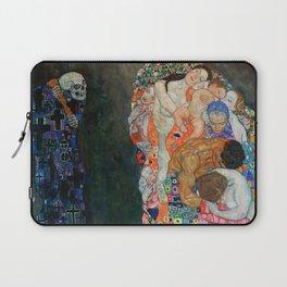 """Gustav Klimt """"Death and Life"""" Laptop Sleeve"""