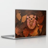 hedgehog Laptop & iPad Skins featuring Hedgehog by Lilybet