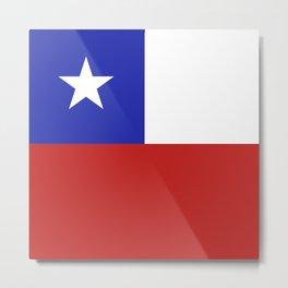 Chile flag emblem Metal Print