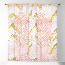 Botanical 1.0 - Pink & Gold Blackout Curtain