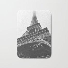 Eiffel Tower (Black and White) Bath Mat