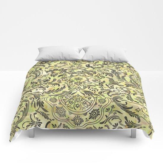 Damask Pattern 03 Comforters