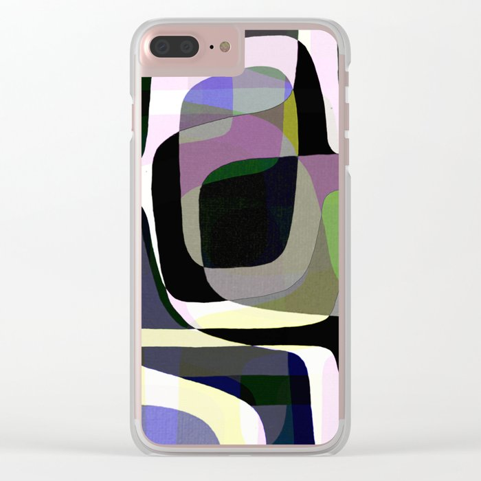 Mid Century Abstract 2 Clear iPhone Case