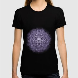Vintage Lavender Watercolor Mandala T-shirt