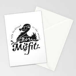 ugly duckling - black Stationery Cards