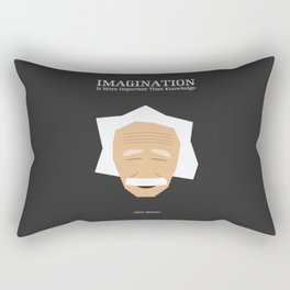 Lab No. 4 - Albert Einstein Inspirational Quotes Typography Poster Rectangular Pillow