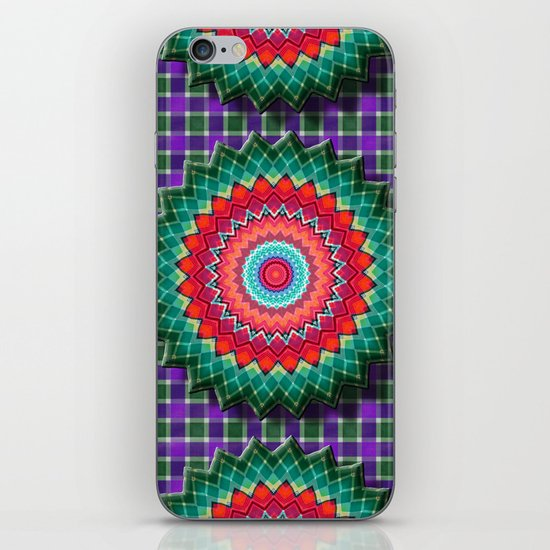 Plaid Flower iPhone & iPod Skin