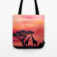 africa Tote Bags featuring Africa by Monica Georg-Buller