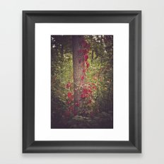 This tree is on fire Framed Art Print