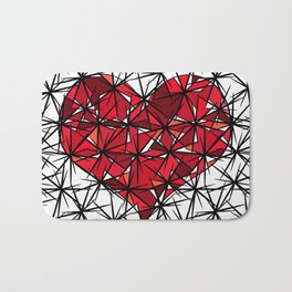 Barbed heart. Bath Mat