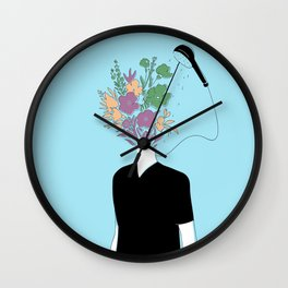 Summer Shower Wall Clock