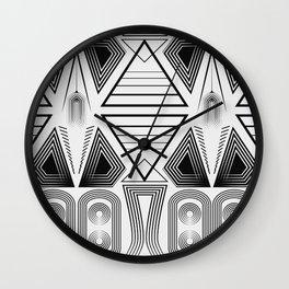 "Art Deco. ""Black and light gray"" 28 . Wall Clock"