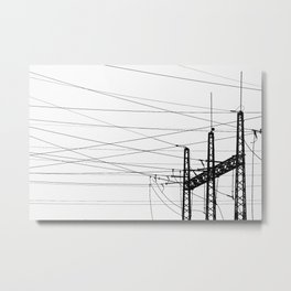 Electricity Plant Metal Print