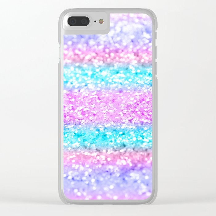 unicorn girls glitter 15 shiny decor art society6 clear iphone