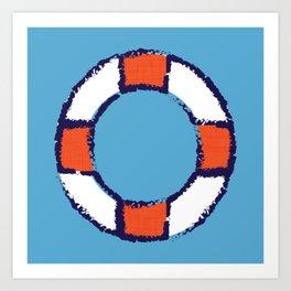 lifeguard buoy blue #nauticaldecor Art Print