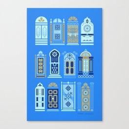 Moroccan Doors – Cornflower Blue Palette Canvas Print