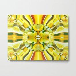 Lemon Swirl 3 Metal Print