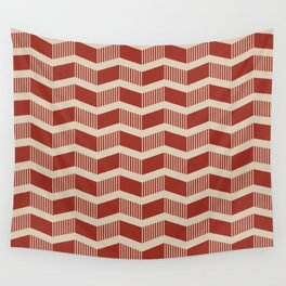 Orange Stripped Chevron Wall Tapestry