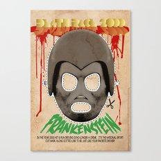 DEATH RACE 2000 - Frankenstein Mask Canvas Print