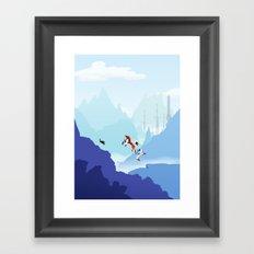 Down The Mountainside Framed Art Print
