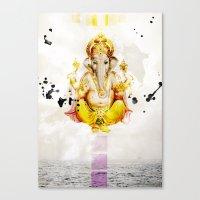 ganesha Canvas Prints featuring Ganesha by O. Be
