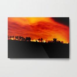 HB Blaze Metal Print