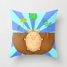 Veggie bacon Throw Pillow