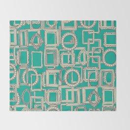 picture frames aplenty indigo jade Throw Blanket