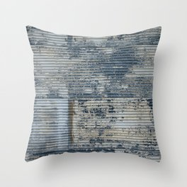 Warehouse District -- Vintage Industrial Farm Chic Abstract Throw Pillow