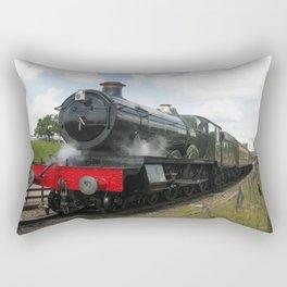 Vintage steam engine railway train Rectangular Pillow