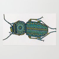 beetle Area & Throw Rugs featuring Beetle by Emilie Darlington