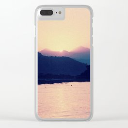 Romantic Pastel Pink Sunset #1 #art #society6 Clear iPhone Case