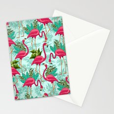 Pink Flamingos Exotic Birds Stationery Cards