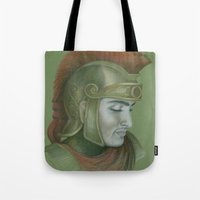 soldier Tote Bags featuring Soldier by Jane Stradwick