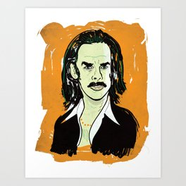 Nick Cave Portrait Art Print