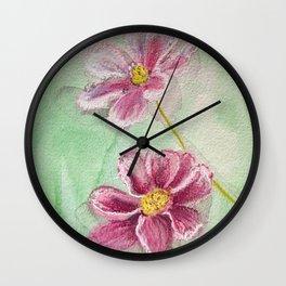 Lazy Hazy Cosmos Wall Clock