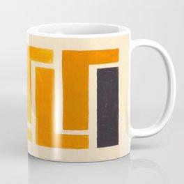 Yellow Ocher Mid Century Pattern Coffee Mug