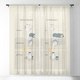 Three Types of Weather (in Russian) Sheer Curtain