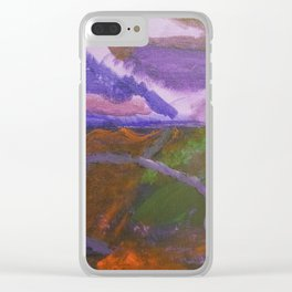 Waterfall painting Clear iPhone Case