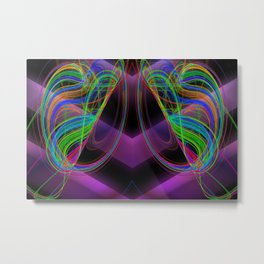 Ever swing with colours ... Metal Print
