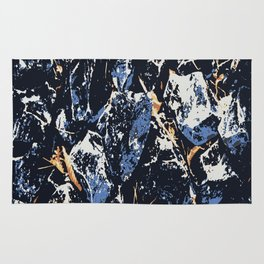 Blue stones Rug