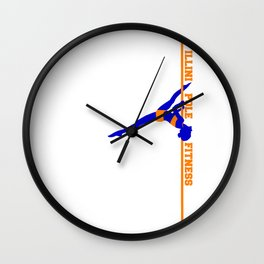 Illini Pole Fitness Logo Wall Clock
