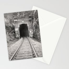 Bellingham Railroad Tunnel, Washington Trains, Northwest Landscape, Sepia Print Stationery Cards