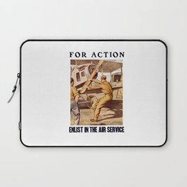 For Action - Enlist In The Air Service Laptop Sleeve