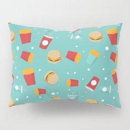 Burgers pattern Pillow Sham