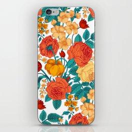 Vintage flower garden iPhone Skin