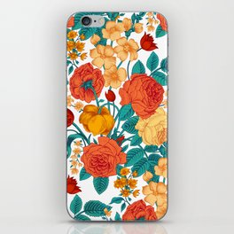 Vintage flower garden iPhone Skin